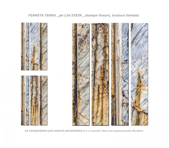 LIA-STEIN-ph-_PIANETA-TERRA-_4-pannelli-30x180-composizioni-varie-_stampa-fineart-tiratura-limitata-_L_ATELIER-di-LIA-STEIN,-via-VENIERO,-8-MILANO-_foto-per-COMUNICAZIONE