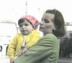 Mamma ed Elena in piazza Statuto, 1968