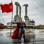 02.Enrico Pescantini A Red Superhero In North Korea Monument to Party Foundation 1 - Milano Photofestival