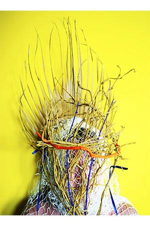 Mask and Palm leaf copia - Milano Photofestival